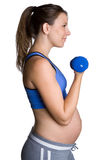 Pregnant Workout Woman. Healthy fit pregnant workout woman Stock Photo