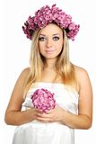 Pregnant in a wreath Royalty Free Stock Photos