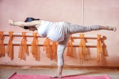 Pregnant yoga Royalty Free Stock Photography