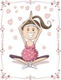 Pregnant Yoga Vector Cartoon Royalty Free Stock Photography