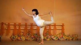 Pregnant yoga stock video