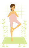 Pregnant yoga woman Royalty Free Stock Photo
