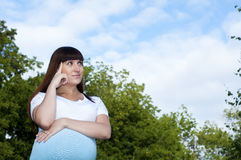 Pregnant Young Woman Stock Photo