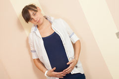 Pregnant young woman Royalty Free Stock Photo