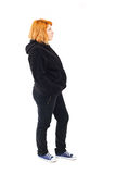 Pregnant young woman in her jogging suit Royalty Free Stock Photo