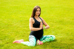 The pregnant young woman Royalty Free Stock Photo