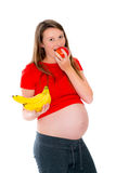 Pregnant young woman showing the tummy Royalty Free Stock Photography