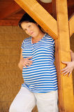 Pregnant young woman standing Stock Photography
