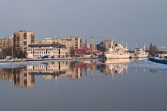 Pregolya river in Kaliningrad Stock Photography
