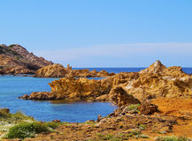 Pregonda Bay on Minorca Royalty Free Stock Photos