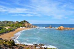 pregonda Cala wysp menorca pregonda Spain Zdjęcie Stock