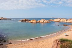 Pregonda cove of Menorca a Spanish island stock photos