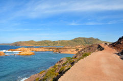 Pregondo beach in Menorca, Balearic Islands Spain Royalty Free Stock Photos