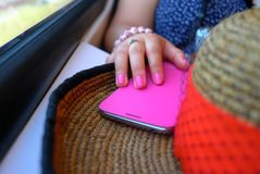 Pregos cor-de-rosa Fotografia de Stock Royalty Free
