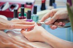 Pregos do Manicure Foto de Stock Royalty Free