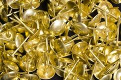 Pregos dourados Fotografia de Stock Royalty Free