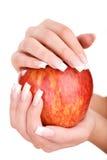 Pregos e dedos bonitos Fotos de Stock Royalty Free