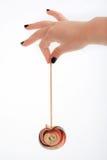 Pregos pretos e um Lollipop Imagem de Stock