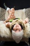 Preguiça do inverno fotografia de stock