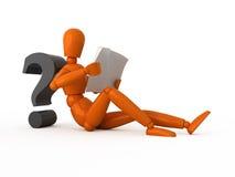 Pregunta complicada. Imagen de archivo libre de regalías