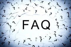 Pregunta con frecuencia hecha Fotografía de archivo libre de regalías