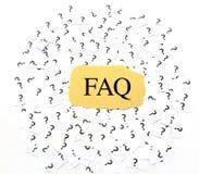 Pregunta con frecuencia hecha (FAQ) Fotos de archivo