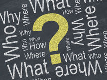 Pregunta concepto imagenes de archivo