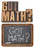 Pregunta conseguida de la matemáticas fotografía de archivo libre de regalías