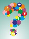 Pregunta de los círculos stock de ilustración