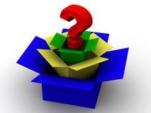 Pregunta de los rectángulos. 3d Imágenes de archivo libres de regalías