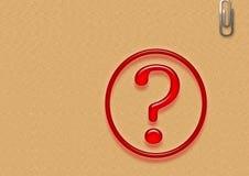 Pregunta del asunto Fotografía de archivo libre de regalías