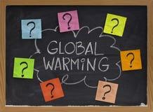 Pregunta del calentamiento del planeta Foto de archivo