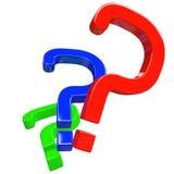 Pregunta del color Imagenes de archivo