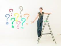 Pregunta del color de la preparación Foto de archivo libre de regalías