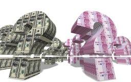 Pregunta del dinero en circulación Fotos de archivo libres de regalías