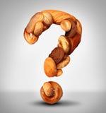 Pregunta del pan ilustración del vector