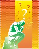 Pregunta del pensador Fotos de archivo