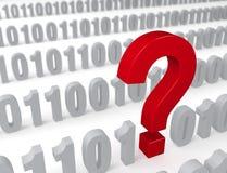 Pregunta grande en la secuencia de datos Foto de archivo libre de regalías
