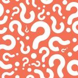 Pregunta inconsútil Mark Background Fotografía de archivo libre de regalías
