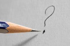 Pregunta-marca Foto de archivo libre de regalías