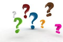 Pregunta-marcas Fotos de archivo