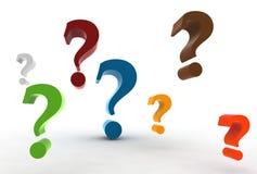 Pregunta-marcas Imagenes de archivo