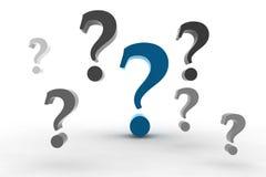 Pregunta-marcas Fotografía de archivo libre de regalías