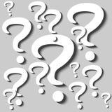 Pregunta Mark Cutouts Imagen de archivo