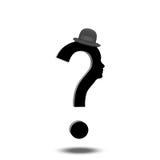 Pregunta Mark Human Imagen de archivo