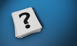 Pregunta Mark Paper Notes Concept Imagen de archivo libre de regalías