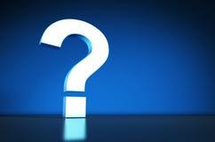 Pregunta Mark Symbol On Blue Background Fotos de archivo libres de regalías