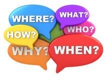 Pregunta multicolor Imagenes de archivo