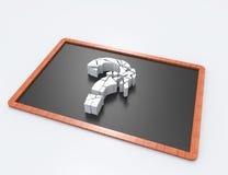 Pregunta quebrada Mark Symbol Fotos de archivo
