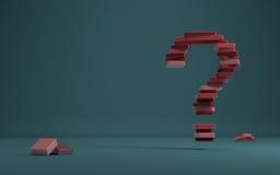 Pregunta roja Fotos de archivo libres de regalías